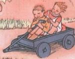 Meninos no carrinho